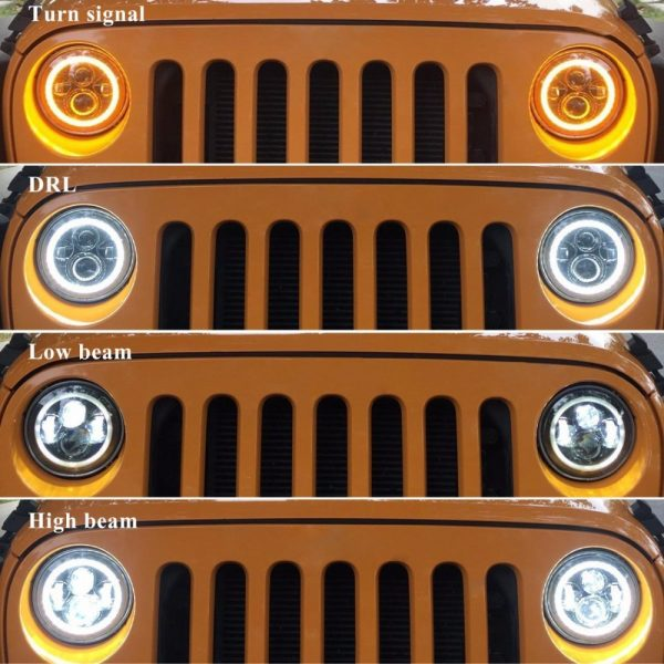 Led Halo Lights for Jeep Wrangler JK TL LJ High Low Beam DRL Turn Signal