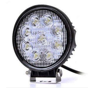27w 4 inch Round Led Offroad Lights Flood Spot Beam 12V 24V Jeep Led Off Road Lights