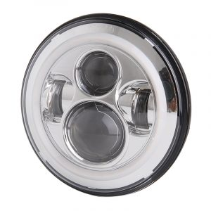 45W 7'' Round Harley Davidson Led Halo Headlight with High Low Beam DRL Turn Signal