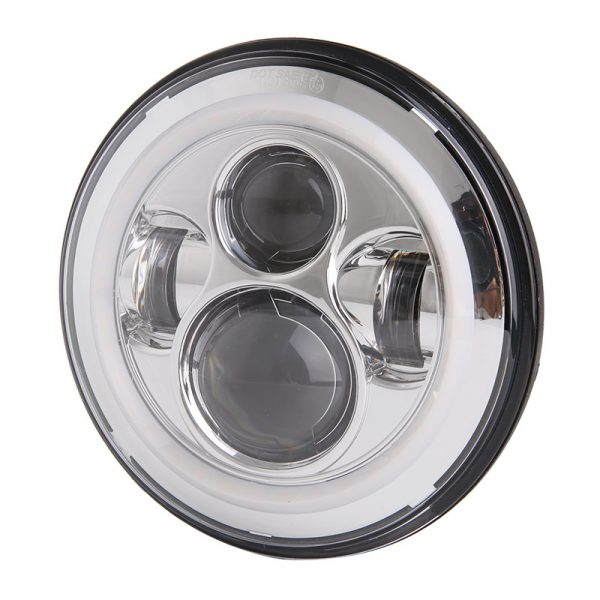 Chrome Harley Davidson Led Halo Headlight with High Low Beam DRL Turn Signal