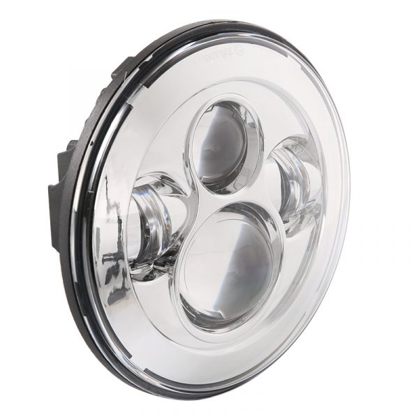 7'' Round Led Projector Headlight for Harley Davidson Chrome