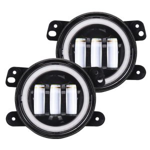 Jeep Wrangler JK Led Fog Lights with Halo DRL