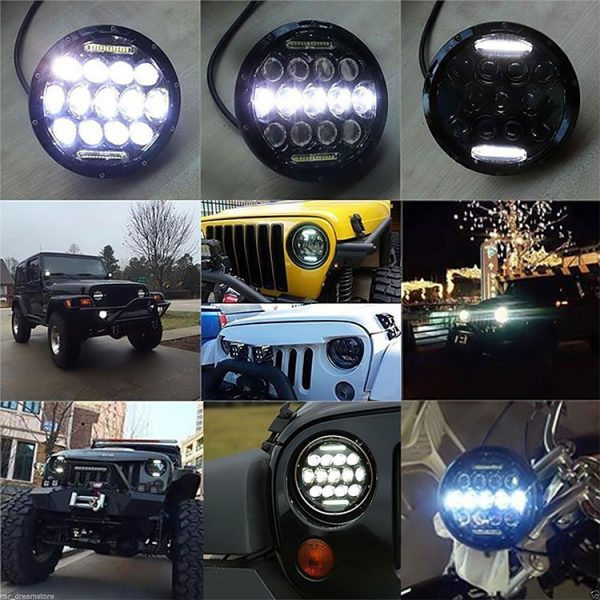 Jeep Wrangler JK Led Headlights High Low Beam DRL