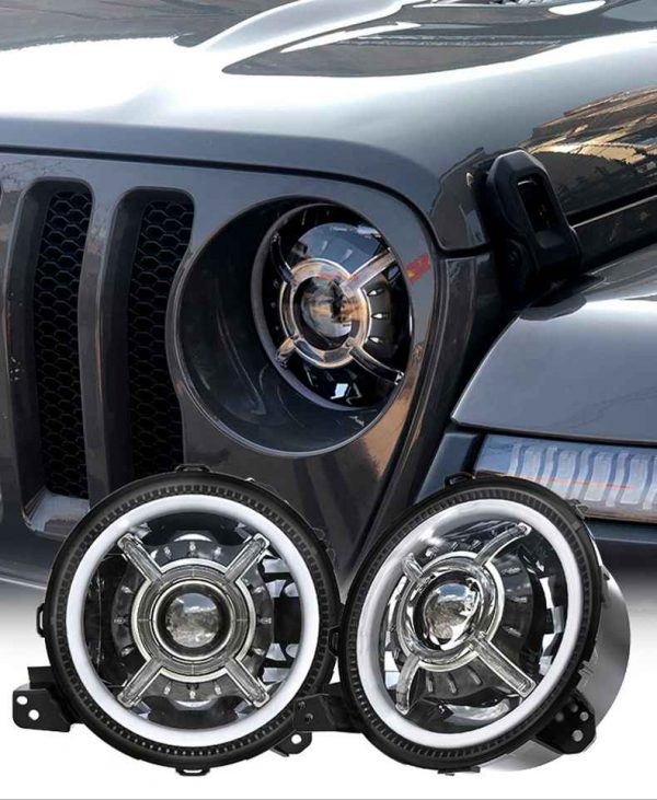 """100W  9 """" headlight for JL 18+ 9 inch led headlight for jeep wrangler jl for jeep jl"""