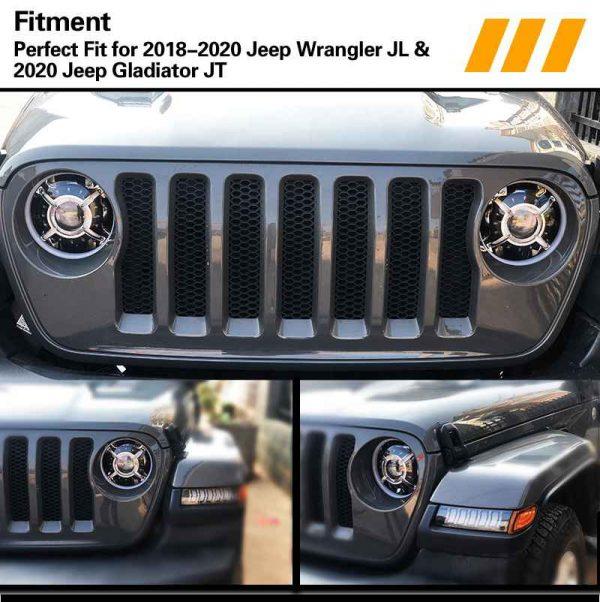 100W New 9 inch headlights for Jeep wrangler jl rgb for jeep headlights
