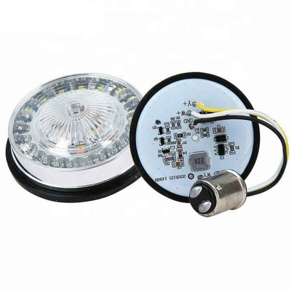 1157 LED Motorcycle Turn Signal Lamps with DRL Compatible with Harley Davison Motorcycles
