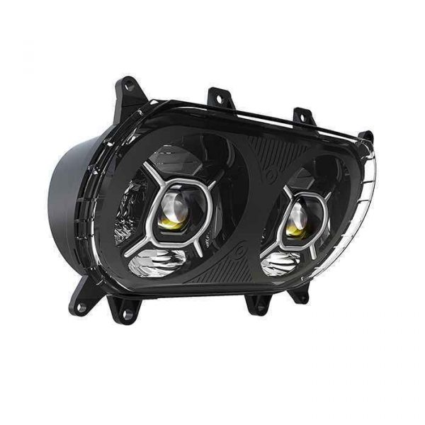 124W High Power LED Headlamp Hi/lo Beam Road Glide Motorcycle LED Projector Headlight for Harley Davidson