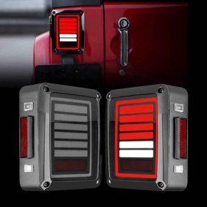 12V Car LED Tail light brake reversing turn driving rear lights led tail light for Jeep JK