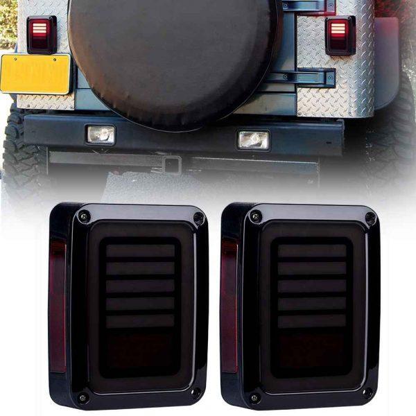 12V Car LED Tail light led tail lamp for Jeep Wrangler 2007-2015 JK tail lights brake/reversing/driving/turning light