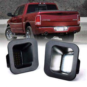 2003-2018 Dodge Ram LED License Plate Light  rear number plate light for Dodge ram 1500 2500 3500 tag light