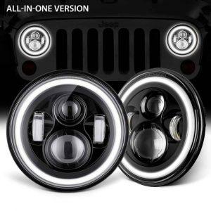 "2007-2014 Wrangler JK headlight 7"" round led headlight for jeep"