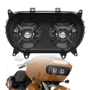 2015-2019 Road Glide headlight hi/lo beam led projector headlight with halo