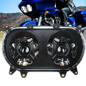 2015-2020 Road Glide Led Headlamp with Passing Lamp High Low Beam Led Projector Headlight for Harley Road Glide