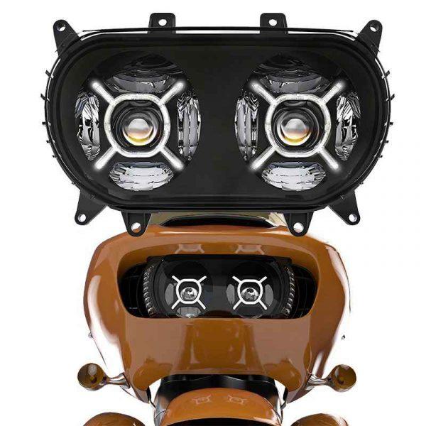 2015+ Road Glide Twin headlight motorcycle double headlight DOT led dual headlight for Harley Road glide 2015-2020