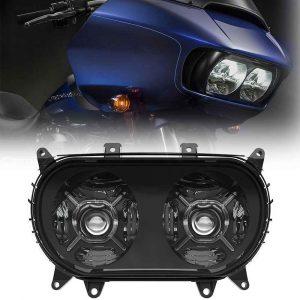 2015+ Road Glide headlights for harley road glide double headlight 2015-2020 road glide headlamp DOT SAE approved
