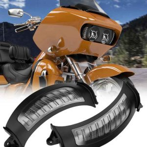 2015+ Road glide LED Side marker turn signal white/amber turning/running light for harley 5.75 inch dual headlights