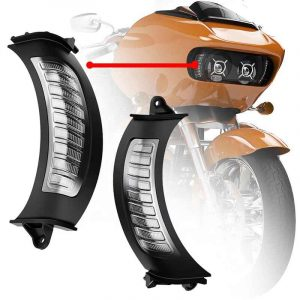 2015+ Road glide led turn signal front side markers amber/white daytime running light match dual headlights
