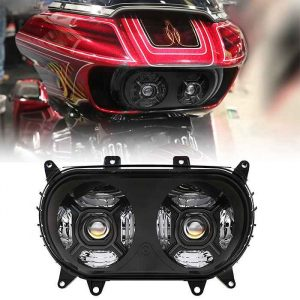 2015+ Road glide parts led dual headlight with DRL motorcycle light double headlights for 15-20 Harley Road glide Ultra FLTRU SE