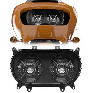 2015+ road glide dual headlight LED double headlamp for Harley-Davison LED projector headlights for 2015 2016 2017 road glide