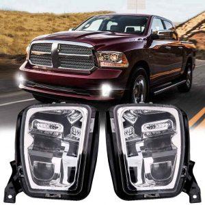 2017 Ram 1500 Fog Light Chrome led front bumper fog lamp for Dodge Ram 1500 2013 2014 2015 2016 2017 2018 Pickup Accessories