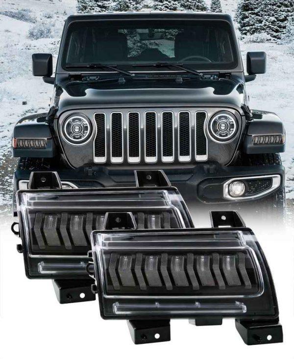 2018 2019 2020 led turn signal for jeep jl for jeep wrangler jl fender flares