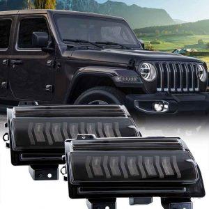 2018 2019 2020 smoke flare for jeep wrangler jl fender flares light flare lens led