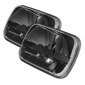 """2019 Truck  Parts! LED 5""""x7"""" Headlight Kit For Jeep Wrangler YJ Cherokee XJ"""