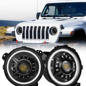 2020 9 inch jl headlight conversion halo 9 jl headlight for jeep headlight