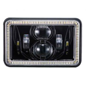 2020 DOT Approved Headlights 55w 4x6 inch LED Headlights Rectangular Projector Headlights with DRL