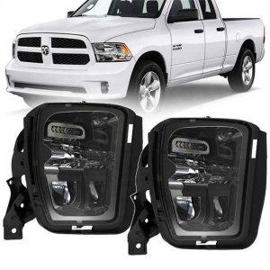 2020 NEW LED Fog Light Kit Projector Driving Fog Lights for Dodge Ram 1500 Pickup Trucks