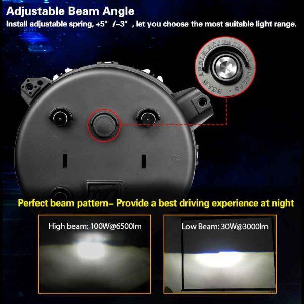2020 new parts for jeep led headlight 9 inch headlights wrangler rgb 2018 jl headlights