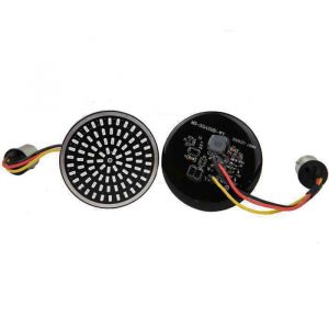 """2"""" LED Front Turn Signals Running Light 1157 Bullet Style Inserts for Harley Davidson"""