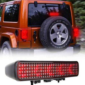 3rd Braking Light for Jeep JL Wrangler 2018-2019 Red/Smoked third led brake light for Jeep Wrangler jl spare tire brake light