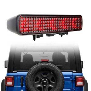3rd high-mount stop lamp for Jeep Wrangler JL Sport 2-door 4-door Rubicon Sahara Overland high mount tail light