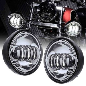 4 1/2 led passing lamp for harley electra glide ultra fog light 30w 4.5 inch OE replacement led passing light