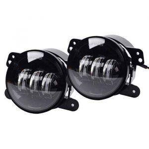 "4 Inch JK fog lights 30w round 4"" high powered led bumper fog lamps round fog light for jeep wrangler jk 07-17"