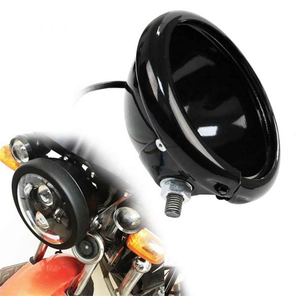"""5.75 inch headlight housing for harley 5 3/4"""" motorcycle headlight housing holder 5.75"""" headlight housing bracket"""