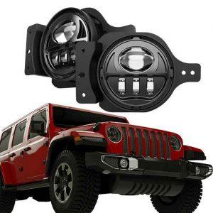 54 Watts Front Bumper Projector LED Fog Light Passing Lights For Jeep Wrangler JL