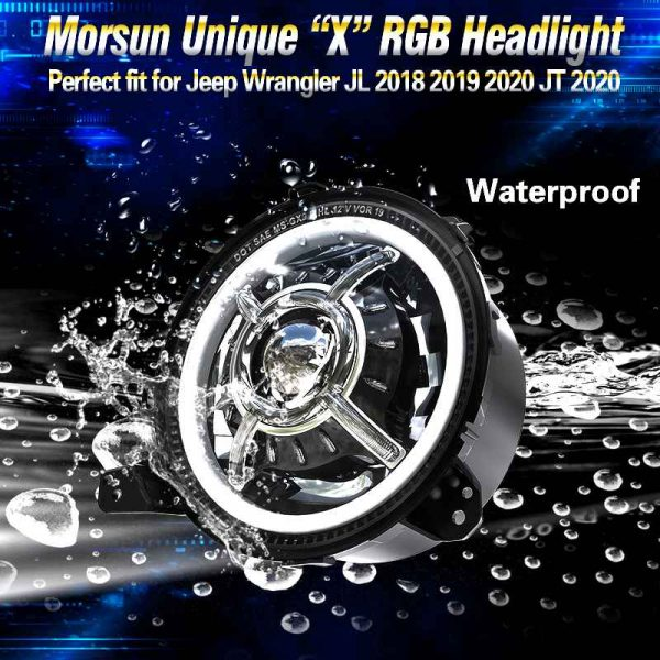 """9"""" round led sealed beam headlight hi/lo bow led projector headlamps for jeep jl 2019"""