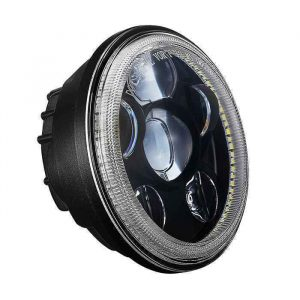 """For Harley 5 3/4 Inch LED Motorcycle Headlight Replacement 5.75"""" LED Projector Headlight With DRL"""