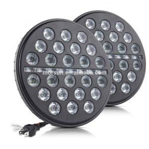 For Jeep JK Wrangler Led Headlight 7 inch DRL turn signal halo headlight