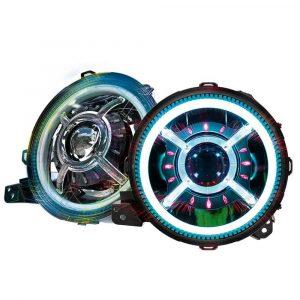 """For Jeep JL accessories RGB 9"""" JL Round headlight 9 led headlight phone app control RGB headlights for 18-20 Jeep JL JT"""