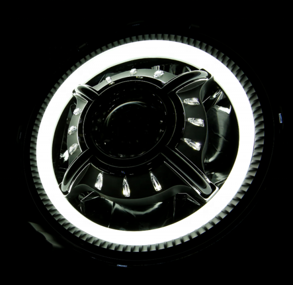 "JL 9"" led headlights Halo ring 9 inch led round headlights for 2018 2019 2020 Jeep Wrangler JL RUBICON/SAHARA/SPORT JL parts"