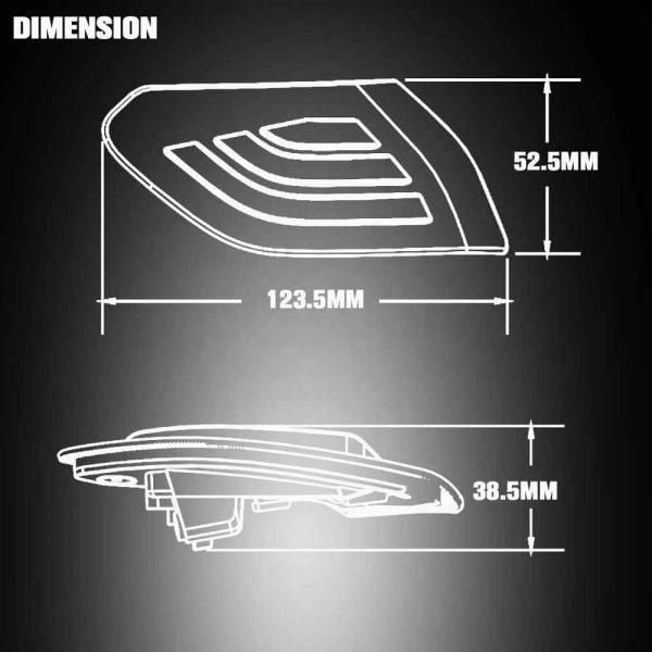 JL LED Side Maker Lights Amber Lens fender flare lights for Jeep Wrangler JL 2018 2019 & 2020 Gladiator JT