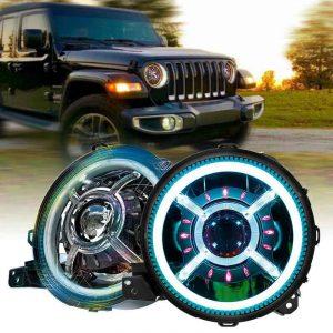 RGB 9inch led headlightfor jeep gladiator for wrangler jl 2019