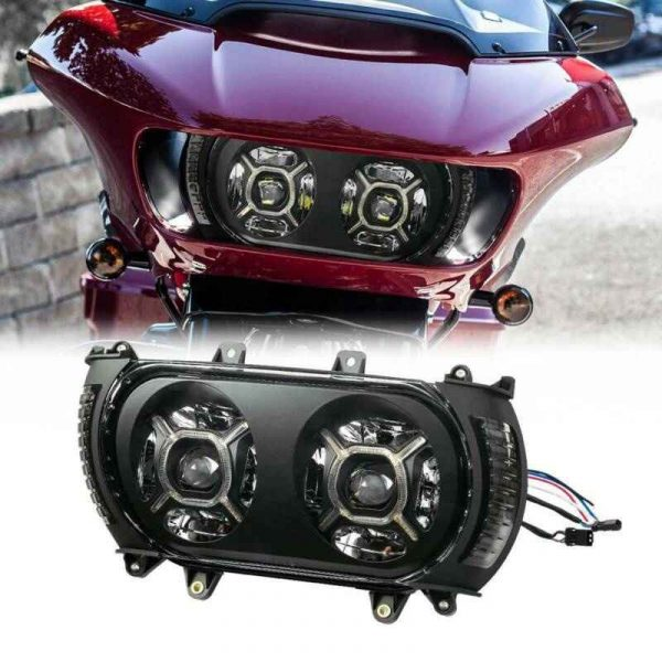 Road Glide 2015-2020 Double Headlight Led Projector Headlamp for Harley