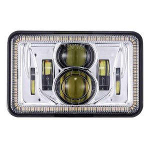 Truck 4x6 headlight rectangular led headlamp kit for Kenworth peterbilt chevy freightliner