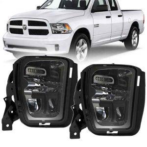 Truck Fog Lamps 48W 6500K White LED Bumper Foglights Driving Fog Light For Dodge Ram 1500 Pickup Trucks 13-18