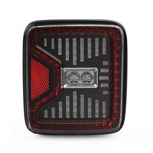 US Version Red LED Tail Lights Brake Light Reverse Light For Jeep Wrangler JL JLU 2018 2019 Sport Rubicon Sahara
