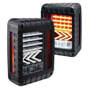 US Version Red Tail Lamp JK Tail Lights with Running/Brake/Reverse/Turning Function